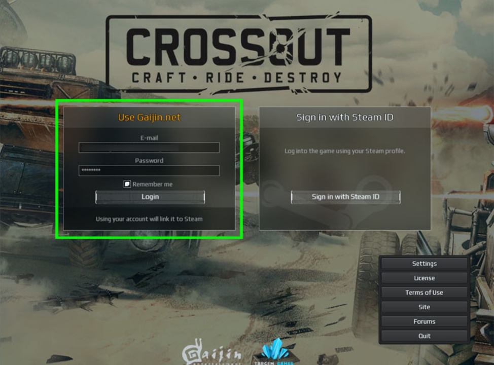 How to link your Steam CrossOut account to your Gaijin