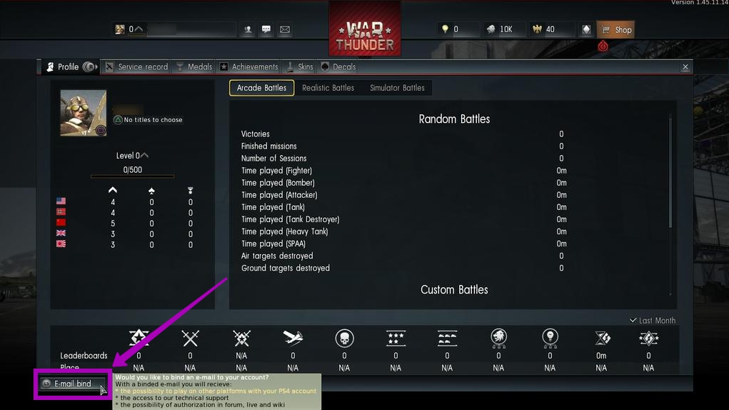account war thunder